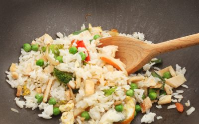 Cauliflower Chicken'less FRIED RICE