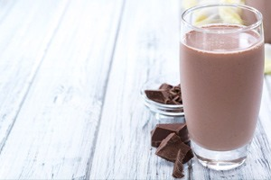 vegan non-dairy chocolate milkshake recipe using plant based vegan protein powder
