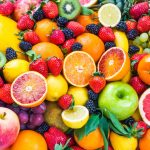 colorful fresh fruit and vegetables