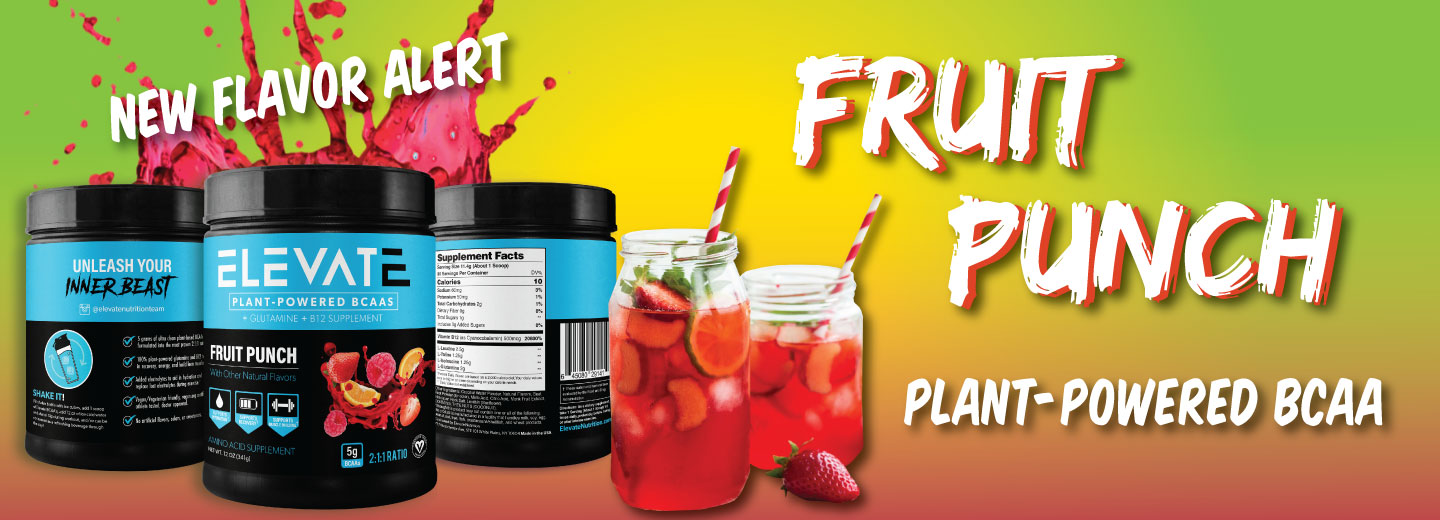 Elevate Plant Based Fruit Punch BCAA
